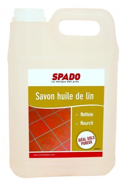 Spado savon huile de lin produit entretien - Huile de lin tomettes ...
