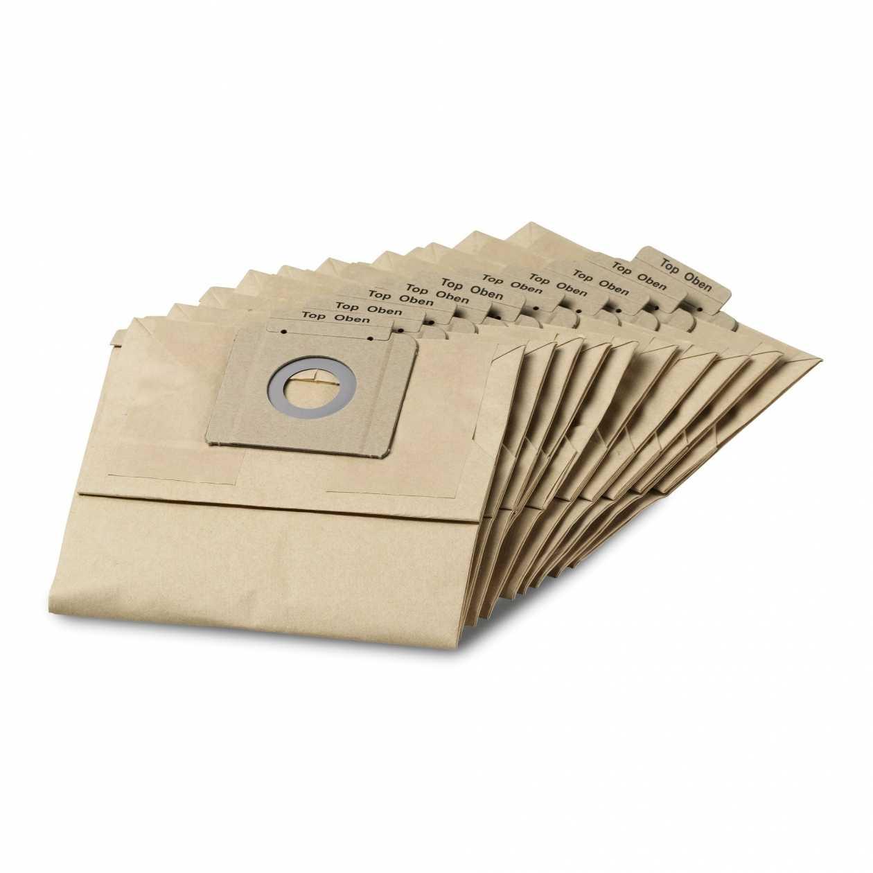 Filtre Papier Double Pour Aspirateur Karcher T12/1 Le Lot De 10 Accessoire  Aspirateur